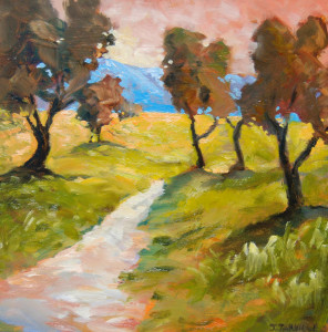 Jeanette Jarville, Olive Grove 1, oil painting,