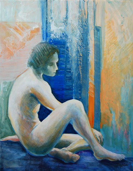 Jarville, Contemplation, Mixed Media on Canvas