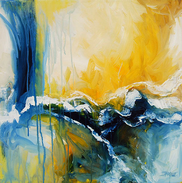 Jarville, Wave # 1 Acrylic on Canvas 24 x 24