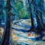 Path of Shadows, Acrylic painting by Jeanette Jarville, 10 x 8